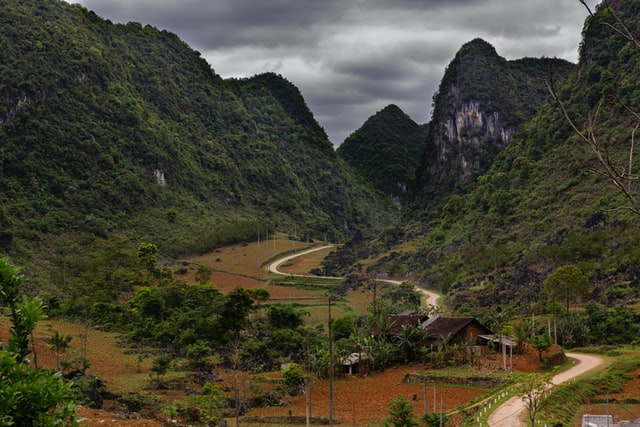 A small road in the northeast of Vietnam